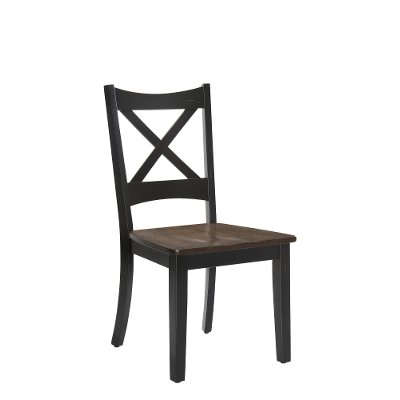 Farmhouse Black and Brown Dining Chair - Lexington