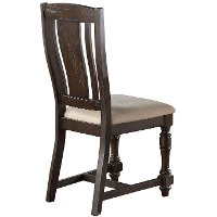 Espresso Brown Slim Dining Room Chair - Xcalibur