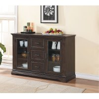Espresso Brown Dining Room Cabinet - Xcalibur