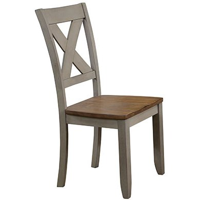 Rustic Gray and Brown Dining Room Chair - Barnwell