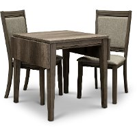 Gray 3 Piece Dining Set with Upholstered Chairs - Tanners Creek