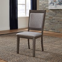 Gray Upholstered Dining Room Chair - Tanners Creek