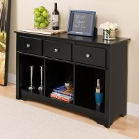 Black Living Room Console Table