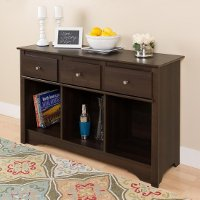 Espresso Brown Living Room Console Table