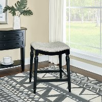 Black Upholstered Counter Height Stool - By Design