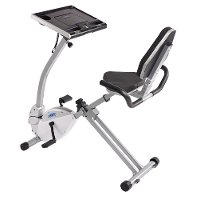 15-0321 Stamina Exercise Bike Work Station and Standing Desk