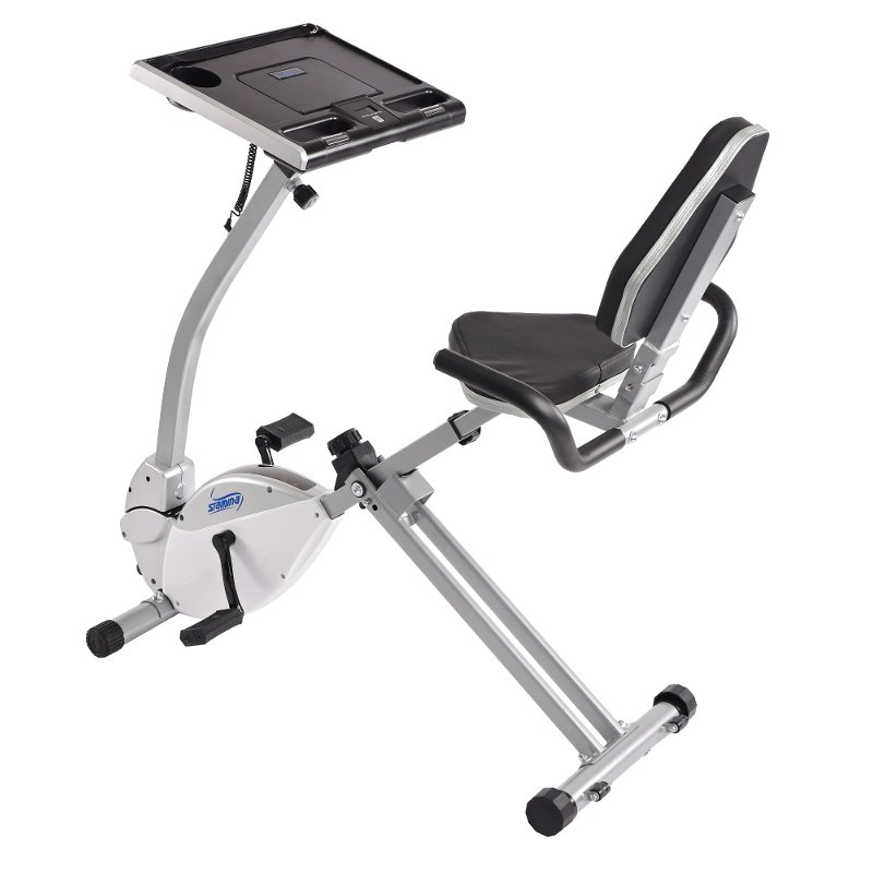 Stamina Exercise Bike Work Station and Standing Desk