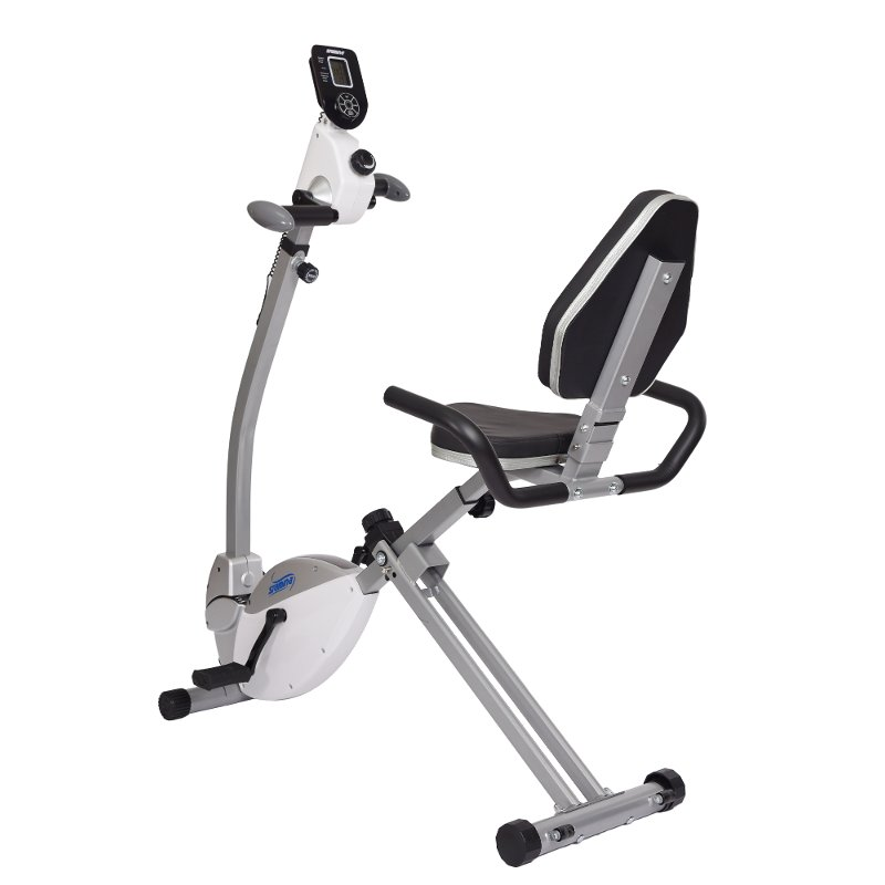 Stamina Exercise Bike with Upper Body Exerciser White