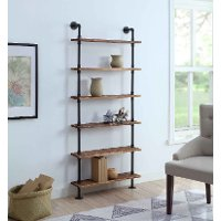 621160 Black and Brown Six Shelves with Piping - Anacortes