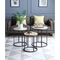 631009/3/NEST/TABLES 3 Piece Round Nesting End Tables - Layton