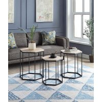 631029 3 Piece Geometric Nesting End Tables - Layton