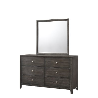 Contemporary Graphite Gray Dresser - Grant