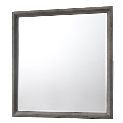 Contemporary Graphite Gray Mirror - Grant