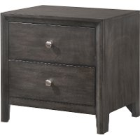 Contemporary Graphite Gray Nightstand - Grant