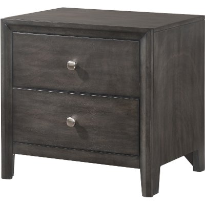 Contemporary Graphite Nightstand - Grant