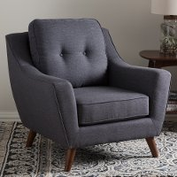 131-7221-RCW Mid Century Modern Dark Gray Chair - Deena