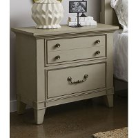 Farmhouse Rustic Taupe Nightstand - Sausalito