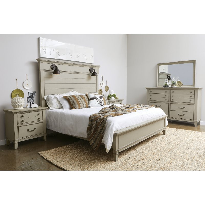 Rustic Taupe 4 Piece King Bedroom Set - Sausalito