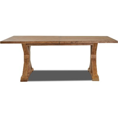 Wheat Brown Farmhouse Dining Table - Coming Home