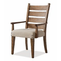 Wheat Brown Upholstered Arm Chair - Coming Home