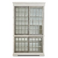 Rustic Chalk White Curio Cabinet - Coming Home