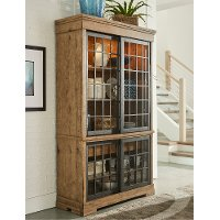 Rustic Wheat Brown Curio Cabinet - Coming Home