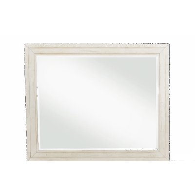 Casual Classic Rustic Chalk White Mirror - Coming Home