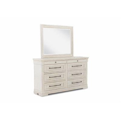 Casual Classic Rustic Chalk White Dresser - Coming Home