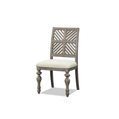 Cottage Natural Washed Upholstered Dining Chair - Laurel Grove