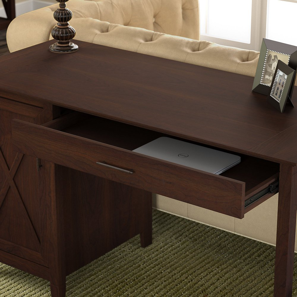 Cherry Brown Casual 54 Inch Office Desk Key West Rc Willey Furniture