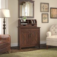 Cherry Brown Laptop Storage Desk with Desktop Organizer - Key West