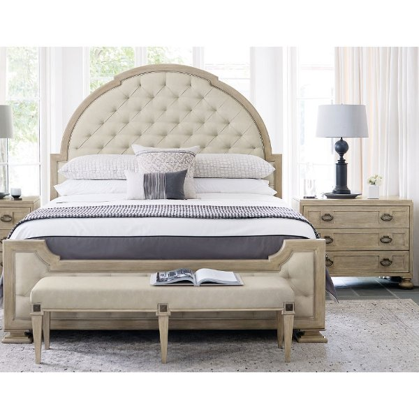 ... Traditional Sandstone 4 Piece Queen Bedroom Set   Santa Barbara ...