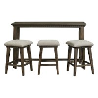 Transitional Gray 4 Piece Bar Table Set - Morrison