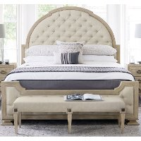 Traditional Sandstone California King Upholstered Bed - Santa Barbara