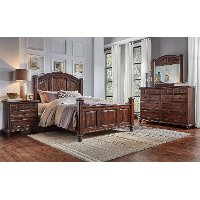 Classic Espresso Brown King Size Bed - Jamestown
