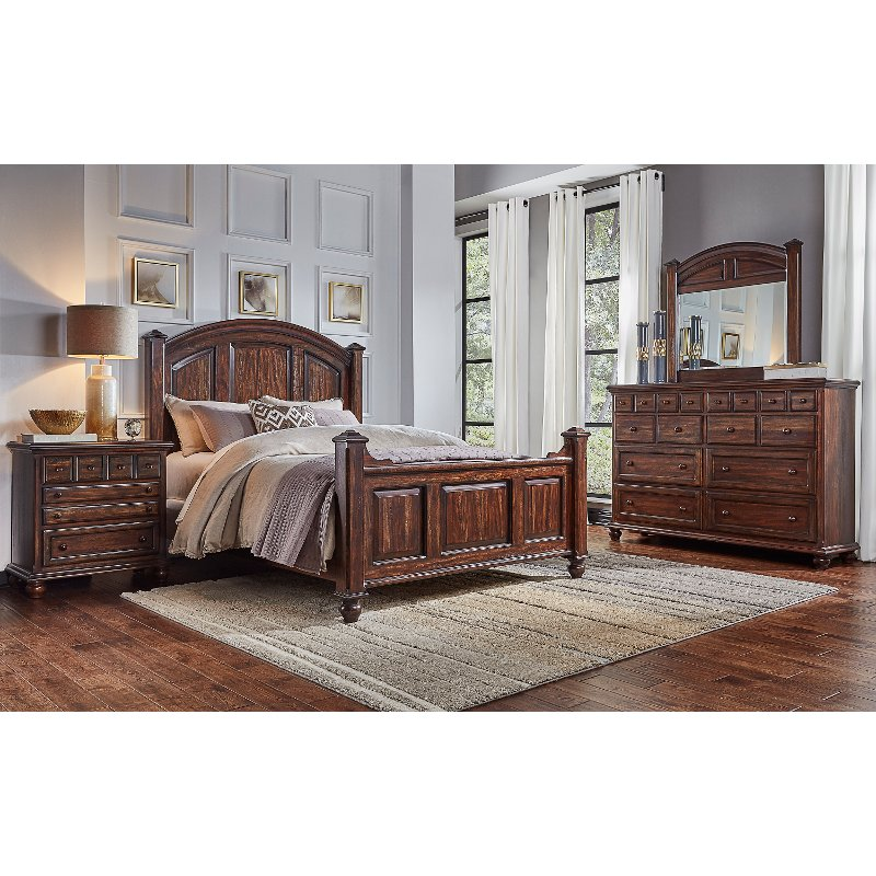 Clic Espresso 4 Piece King Bedroom Set Jamestown