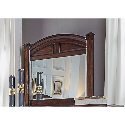 Classic Espresso Brown Mirror - Jamestown