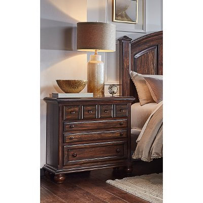 Classic Espresso Brown Nightstand - Jamestown