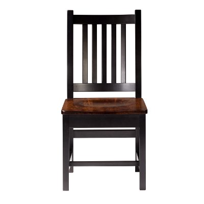 Maple Brown Two-Tone Dining Room Side Chair - Saber