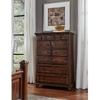 Classic Espresso Brown Chest of Drawers - Jamestown