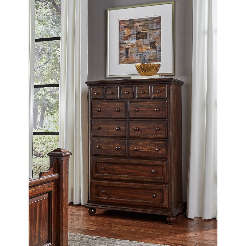 Clic Espresso Brown Chest Of Drawers Jamestown