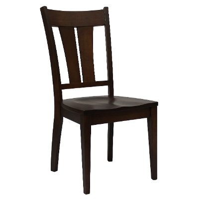 Dark Maple Brown Dining Room Chair - Sterling