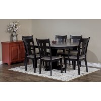 Dark Two-Tone Brown 5 Piece Dining Set - Sterling