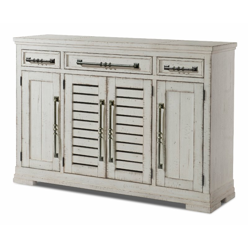 Rustic Chalk White Dining Room Buffet Coming Home