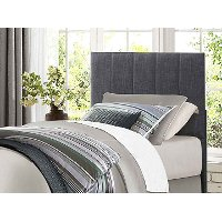 Contemporary Gray Twin Upholstered Headboard - Kelly