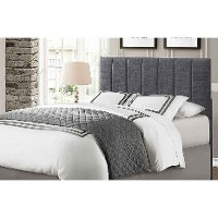 Contemporary Gray Full-Queen Upholstered Headboard - Kelly