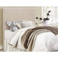 Contemporary Beige Twin Upholstered Headboard - Jamee