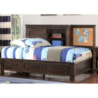 Classic Mission Brown Twin Storage Bed - Tribecca