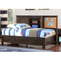 Classic Mission Brown Full Storage Bed - Tribecca