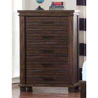 Classic Mission Brown Chest of Drawers - Tribecca